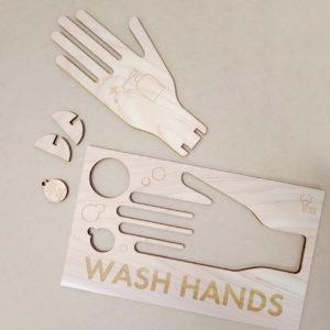 手を洗おう看板